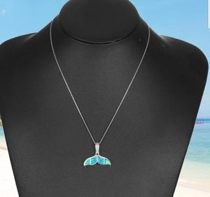 Jewelry - BLUE OCEAN MERMAID TAIL NECKLACE